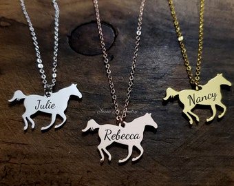 Silver Pony Necklace Gymkhana Jewellery Mother Daughter Horse Pony Gift