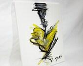 Hanging Yellow Love 11x14 Acrylic on Canvas
