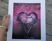 The Power to Live 8x11 print, 11x14 full mat size. DXE original work, signed by artist