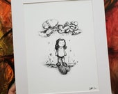 Gloomy Love- 8.5x11 singed Mat prints