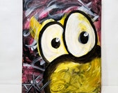 Yellow Crazy 8x10 Acrylic on Canvas