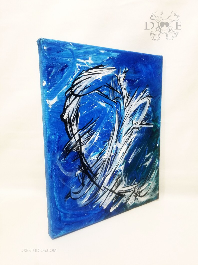 Like A Wave/ 8x10 Original Acrylic on Canvas painting  wall image 1