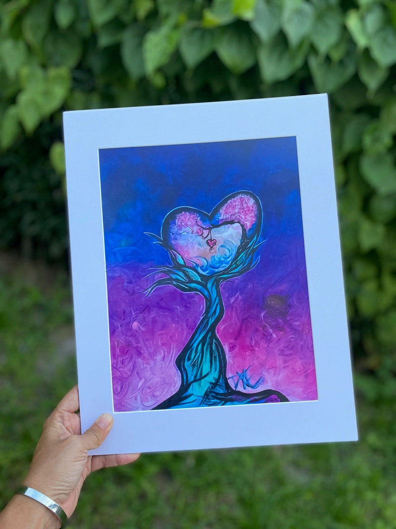 Inspired by the good vibes/ 8x11 Original art print 11x14 image 1