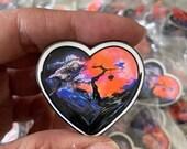 Spread Love, enamel pin.