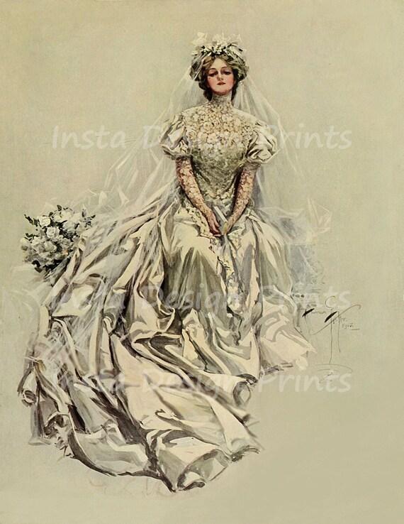 Harrison Fisher Vintage Lady Image titled Refreshments Digital Download JPG Format
