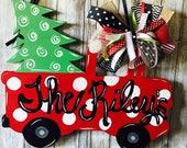 Christmas door hanger, Ch...