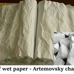 Big lumps chunks edible ANDREEVSKY Russian white chalk natural free samples bestseller crunchy for eating