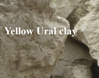 Yellow  Ural clay pure natural for hair skin body care anti cellulite detox  FREE SAMPLES