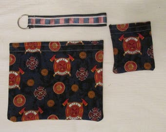 Blue FireFighter Pouch Set