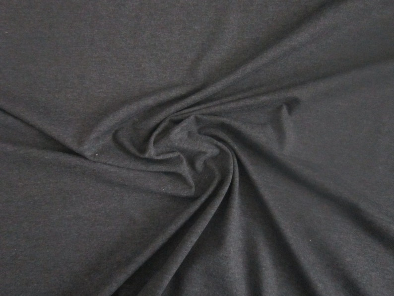 37c7d15399e Charcoal Cotton Jersey Knit Fabric by the Yard Dark Grey | Etsy