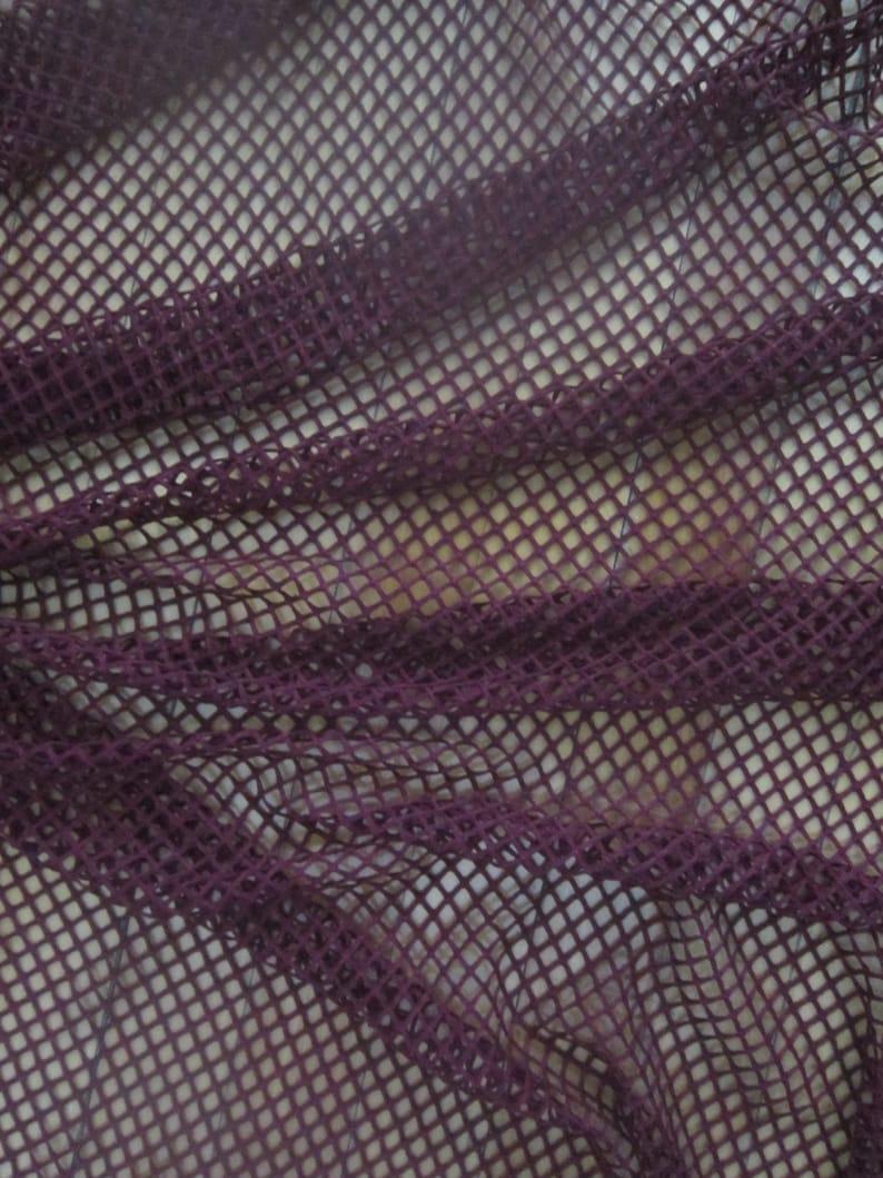 1e189f37cdf Dark Red stretch Mesh Fabric by the Yard Burgundy Wine Mesh | Etsy
