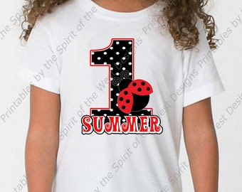 48246f5b Personalized First Birthday Girl Iron On Ladybug shirt Party Polkadot T- shirt Transfer Printable Digital Download clip art DIY scrapbook