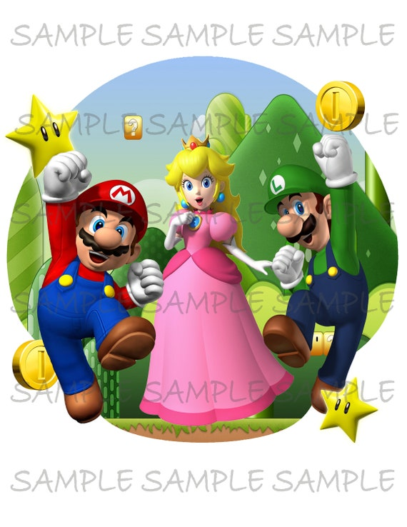 picture regarding Printable Iron on named Tremendous Mario Brothers Impression employ as Printable Iron upon T-Blouse