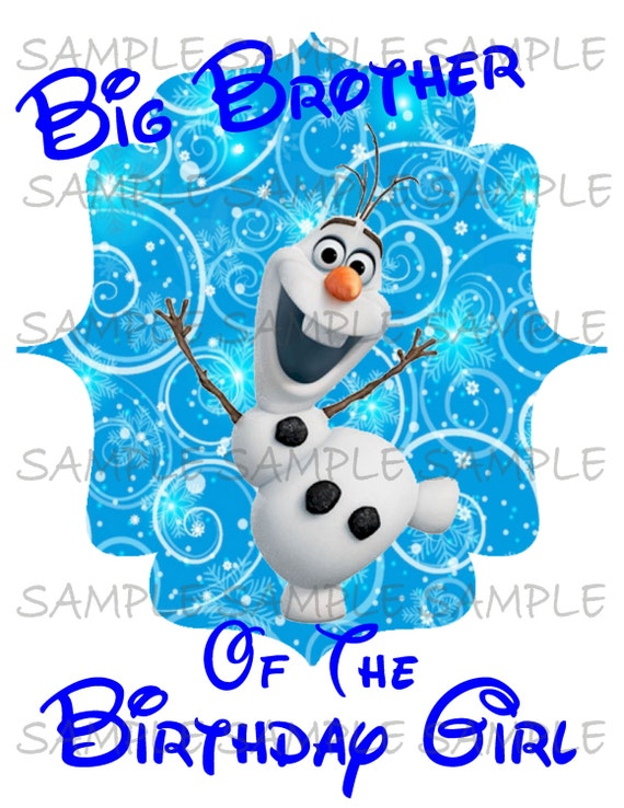 photograph about Olaf Printable called Huge Brother of the Birthday woman Olaf Printable Impression Seek the services of as