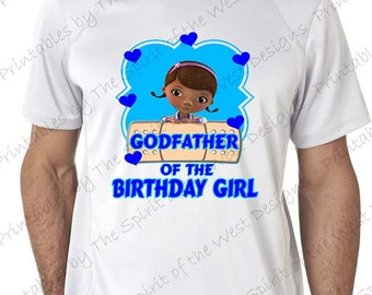 Instant Download Godfather of the Birthday Girl Doc McStuffins Shirt Iron On Matching Family Clip art Scrapbook Printable Digital Download