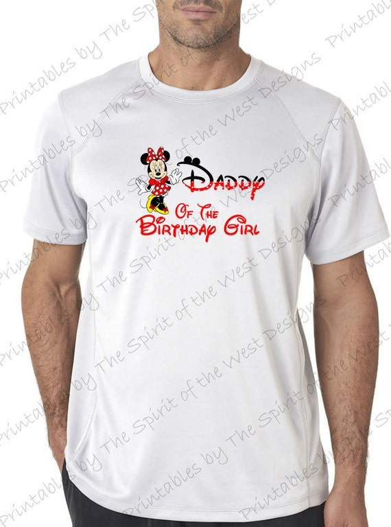 07d329c0 Daddy of the Birthday Girl Minnie Mouse Iron on IMAGE Mouse Ears Printable  Clip Art Disney Shirt Party T-shirt Transfer Download Mickey