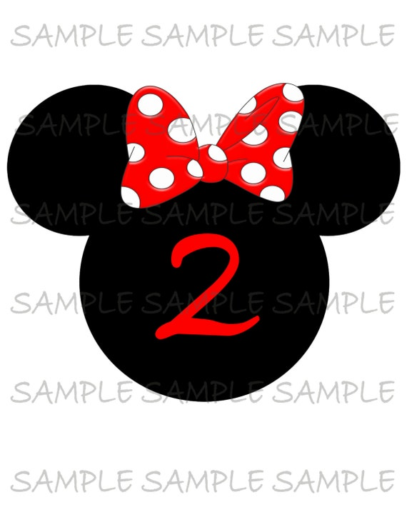 picture relating to Printable Minnie Mouse Head named Minnie mouse mind 2nd birthday Impression Hire as Printable Iron