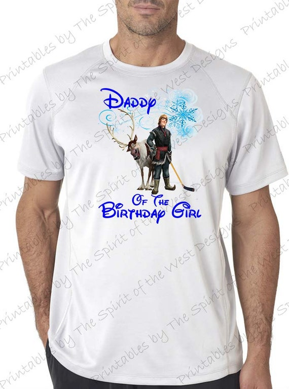 Daddy Of The Birthday Girl Iron On Disney Frozen T Shirt Printable