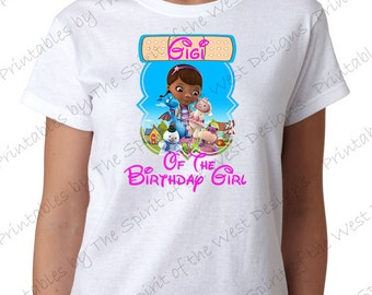 Gigi of the Birthday Girl Doc McStuffins Iron On Disney T-shirt Printable Digital Download Dottie Hattie the Hippo party Favour