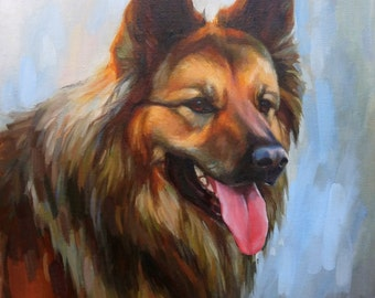 EXAMPLE ONLY. Pet Portrait, Oil Painting, 11x14 Dog