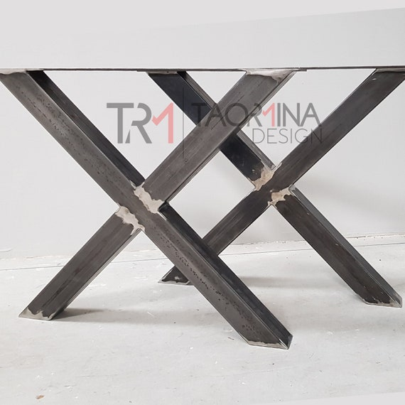 Pied Metal Pour Table.2x Pied De Table Industriel En Metal En Forme De Croix X Metal Table Leg Steel Legs Iron Table Feet Legs Table X8080