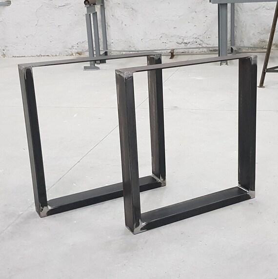 Pied Metal Pour Table.2x Pieds De Table Industriel Metal Steel Legs Legs Per Table Iron Table Feet Acier Pieds Table Legs Steel Table Up10040