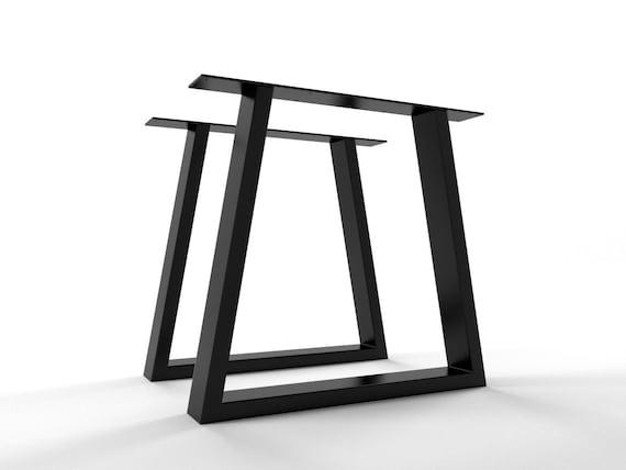 2x Feet Table Shaped Table Trapezium Iron Table Legs Modern Etsy