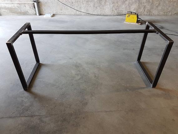2x Metal Steel Table Legs Pied De Table Industriel Foot Legs For Table U Shaped Bar Pied De Table A Manger Industriel Mobilier En Fer