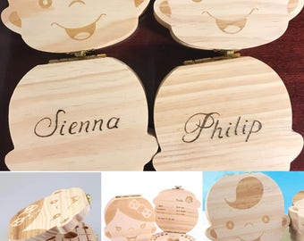 Tooth Fairy Box/Personalized Tooth Box/Baby Tooth Storage Box/Baby Keepsake/Baby Shower Gift