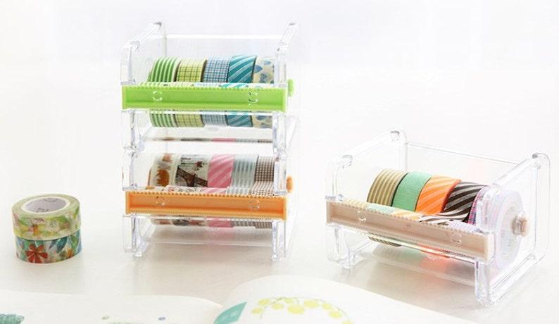 Washi tape dispenser Storage Case / Masking Tape Organizer / image 0