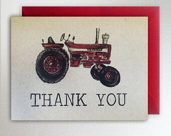 Manly Thank You Card Etsy