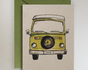 Green Machine VW Van Volkswagon