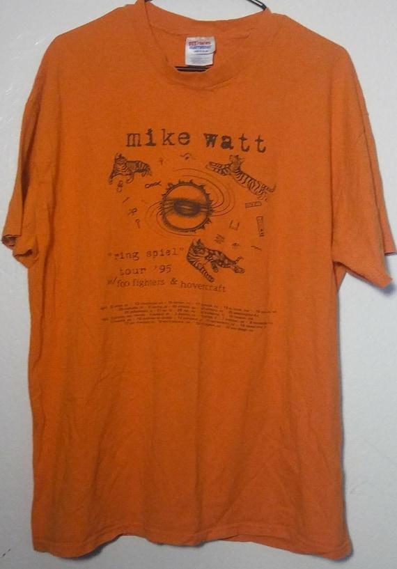 Mike Watt Foo Fighter Rare 1995 Tour Shirt XL Orig