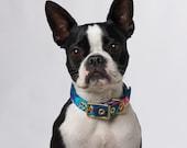 Tropical Flower + Brass Dog Collar // Fabric Dog Collar Buckle Collar - Australia - Floral dog collar