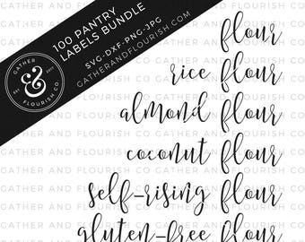 Pantry Labels Bundle SVG Files, Pantry Label Cut Files, Pantry Labels, Farmhouse SVG, Label Cut Files, Pantry SVG Files, Pantry Organization