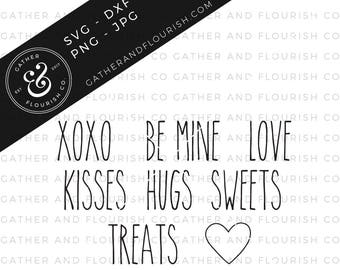 Rae Dunn Inspired SVG, Rae Dunn Valentines Labels, Rae Dunn SVG, SVG Pantry Labels, Pantry Labels, Rae Dunn, Valentines Cut File