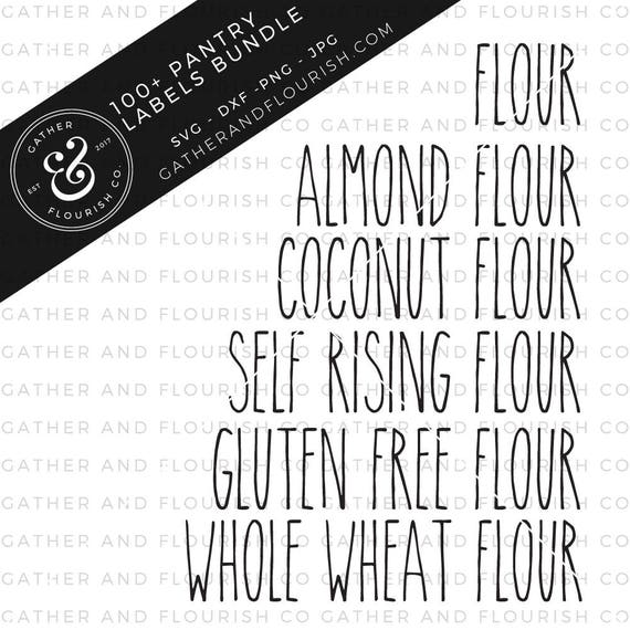 100 Rae Dunn Inspired Pantry Labels Svg Bundle Pantry Labels Etsy