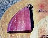 Wine barrel cutting board (1) each,free shipping