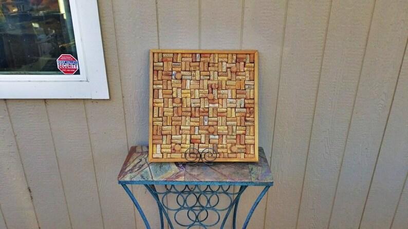 Wine barrel cork board
