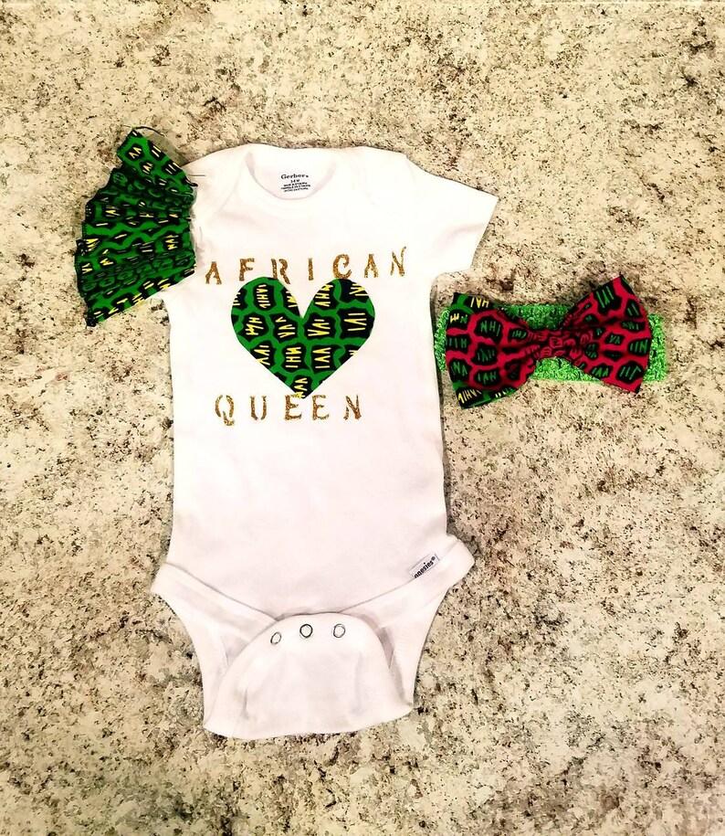 Customized African Baby Bodysuit