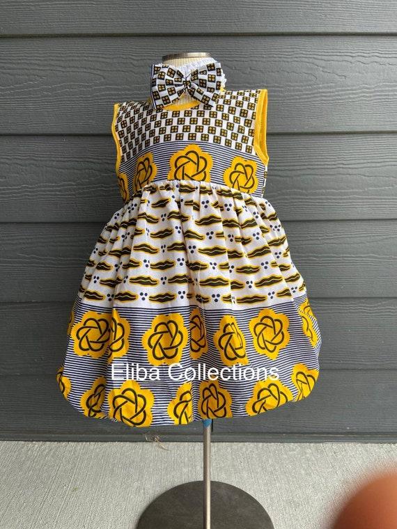Baby ShowerGirl toddlerBaby ankara DressParty dress for girls Girl baby Birthday dressChurch dress for girls