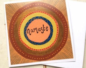 Yoga 90/% YOGI 10 GANGSTER yoga card yogi friend card funny yoga card kraft card hindu greeting card namaste zen card yogi just because card