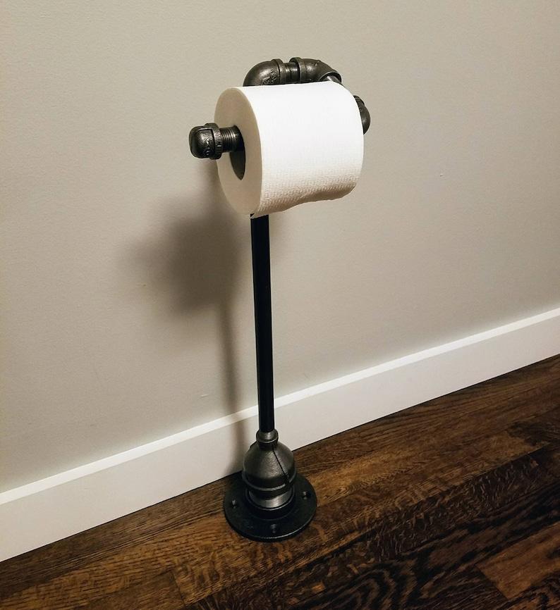 Industrial toilet paper holder Free Standing Industrial image 0