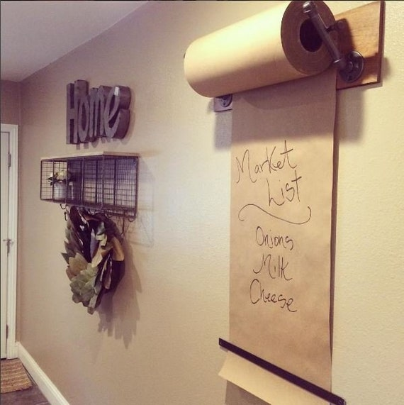 Kraft Paper Dispenser Wall Mount Industrial Pipe Industrial Etsy