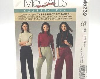 3fdac3655d7 McCalls 5239 Classic Fit Womens Pants w Pockets Size 8 10 12 14 Uncut  Sewing Pattern