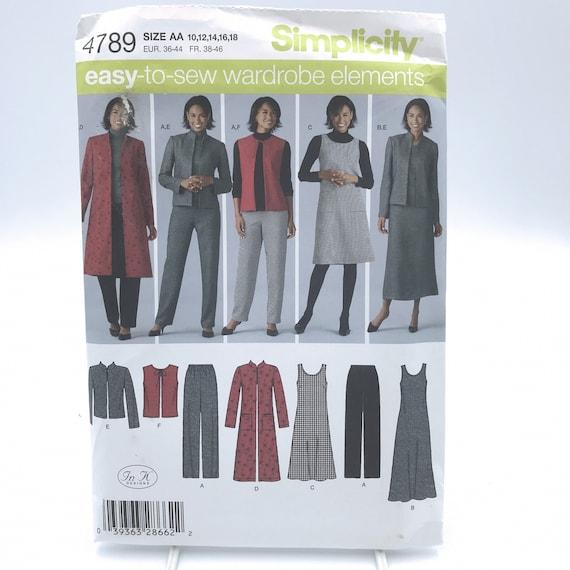 Simplicity Sewing Pattern 2539 Misses Jumper Pants  Jacket  Vest Sizes 10-18