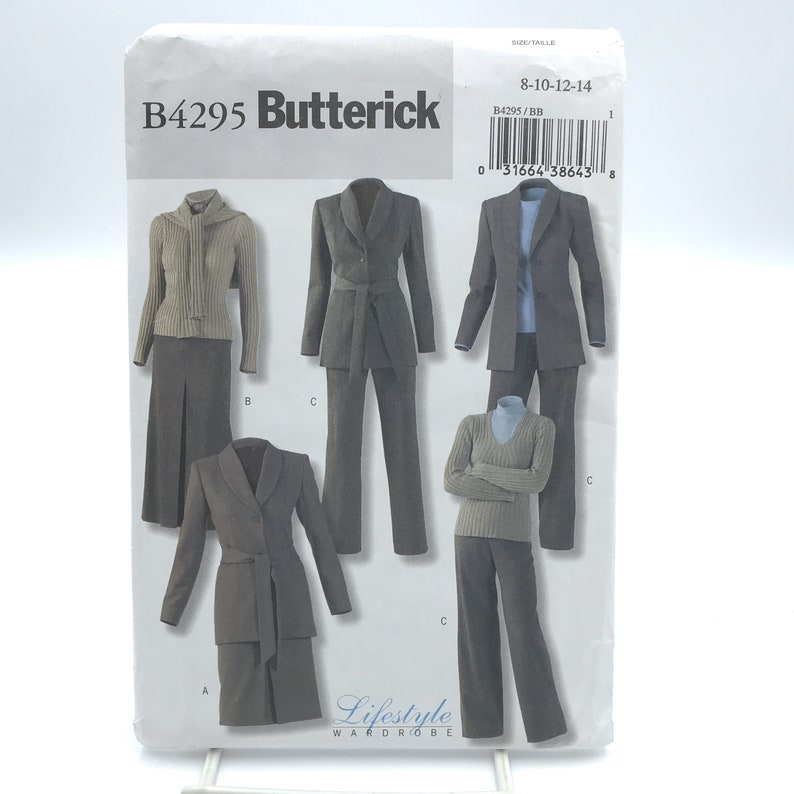 Butterick 4295 Misses Jacket Belt Skirt and Pants Size 8 14 image 0