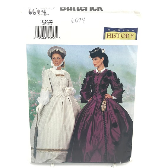 "Butterick 5832 Misses/' ""Making History"" Civil War Dress Pattern Sz 8-14 or 14-22"