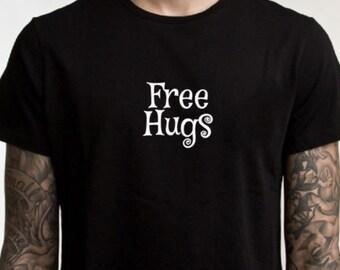 Free hugs tshirt, cute t-shirt, free hugs, I like hugs, graphic tee, peace, funny tee, funny t shirt, hugs for everyone, silly humor,