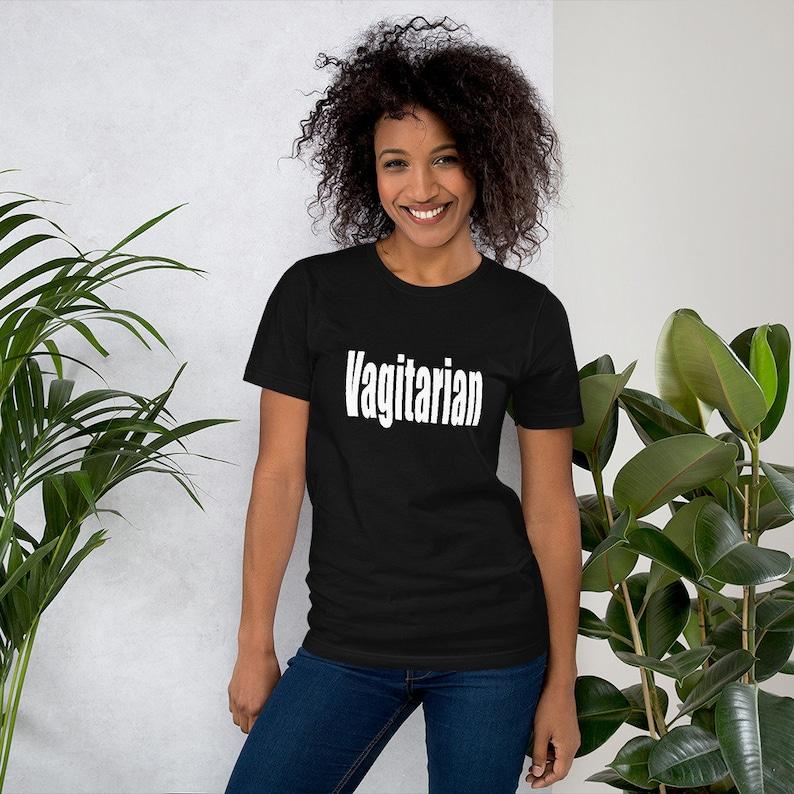 VagitarianT-shirt graphic tee funny tshirt vagitarian image 0